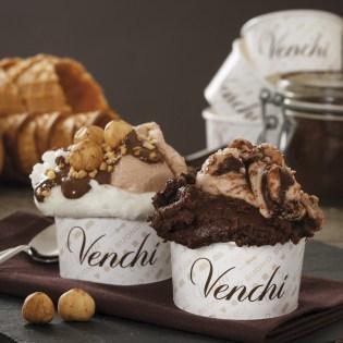 イタリアチョコレートの老舗Venchiのジェラートの写真